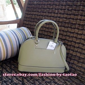 New Coach F27591 Mini Sierra Crossgrain Leather